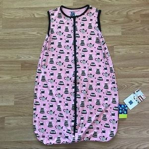 Pink Kickee Pants Sleepsack with teapots